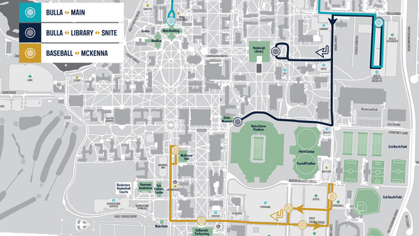 Notre Dame Shuttle offers real-time tracking
