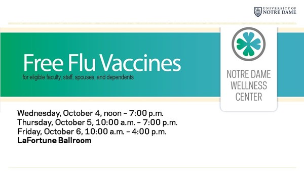 Free Flu Vaccines for Faculty/Staff October 4-6
