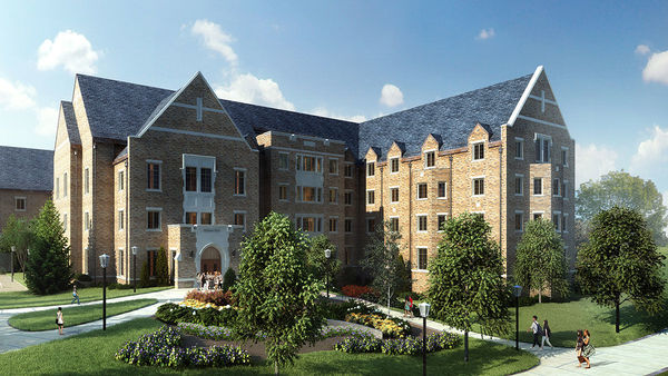 Construction begins on new men's residence hall
