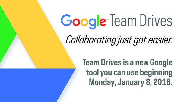 New Google Collaboration Tool: Team Drives