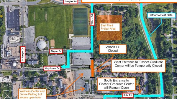 Installation of underground utilities impacts Wilson Drive near Wellness Center March 7-21