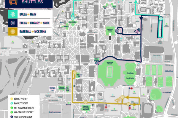 New Visitor Parking With Shuttle Routes