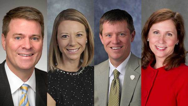 Shannon Cullinan elected executive vice president at Notre Dame; Micki Kidder, Mike Seamon appointed to newly created positions; Ann Firth promoted to vice president