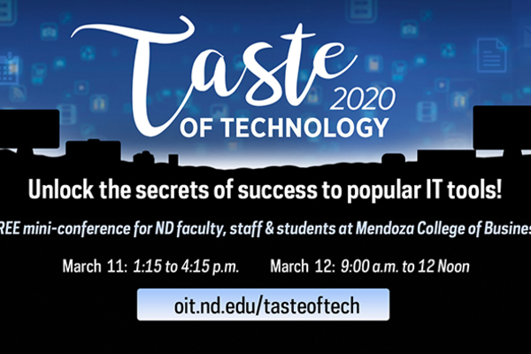 Taste Of Tech Digital Sign 2020 Featured Graphic